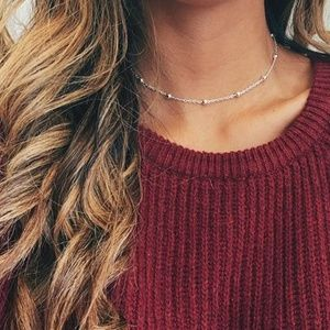 Jewelry - Dainty Silver Satellite Choker